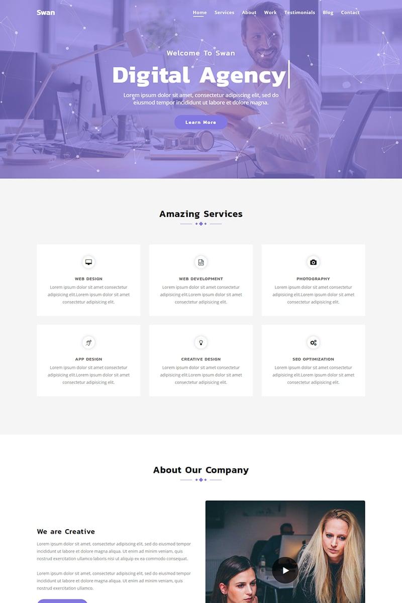 Swan - Parallax Agency Templates de Landing Page №79181