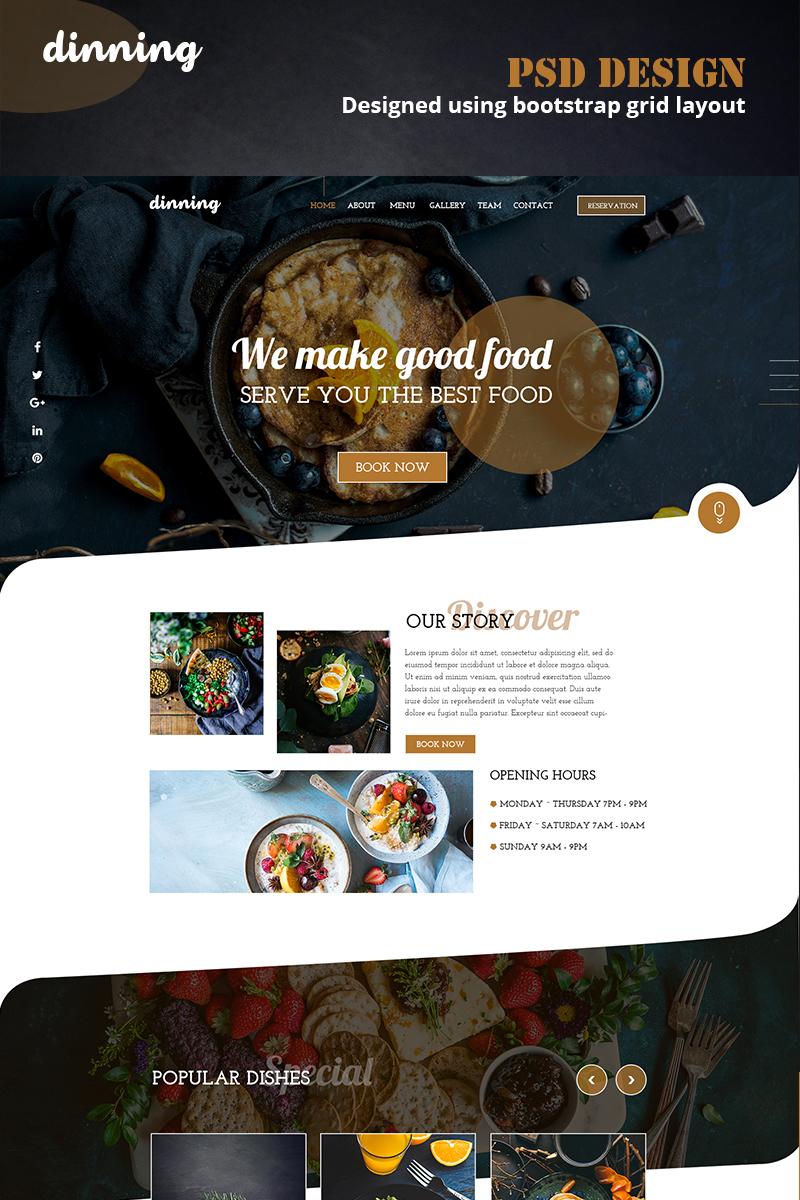 "Tema PSD Bootstrap #79191 ""Dinning"""
