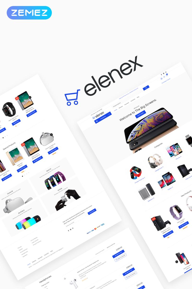 """Tema WooCommerce """"Elenex - Gadgets ECommerce Classic Elementor"""" #79132"""