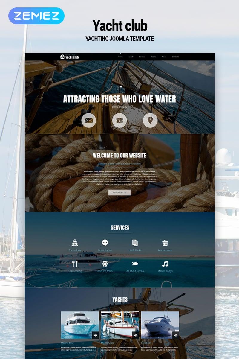 """Yacht club - Yachting Multipage Modern"" thème Joomla adaptatif #79178"