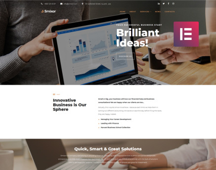 Smixor - Business Multipurpose Modern Elementor WordPress Theme