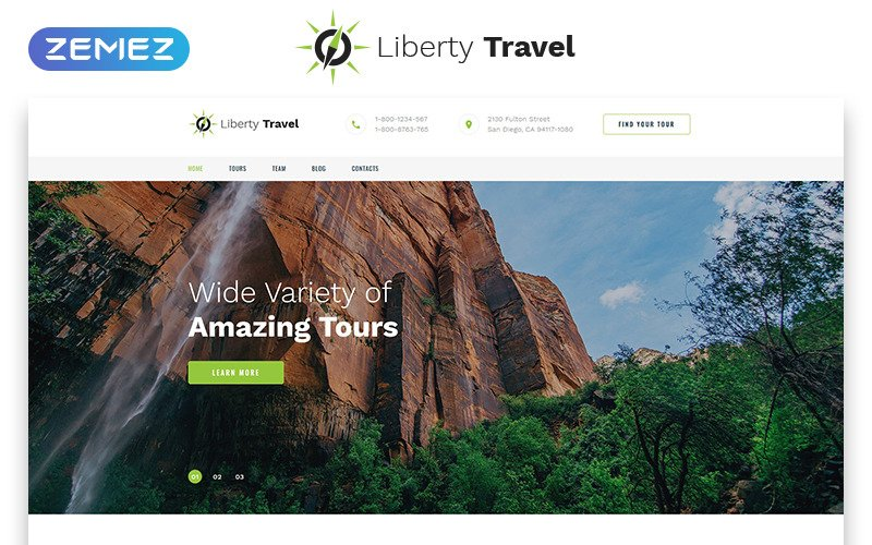 Liberty Travel - Travel Agency  Modern HTML Bootstrap Landing Page Template