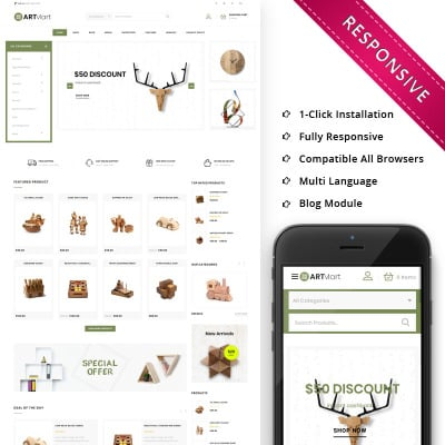 Artmart - The Home Decor Shop Responsive WooCommerce Theme WooCommerce Theme #79250
