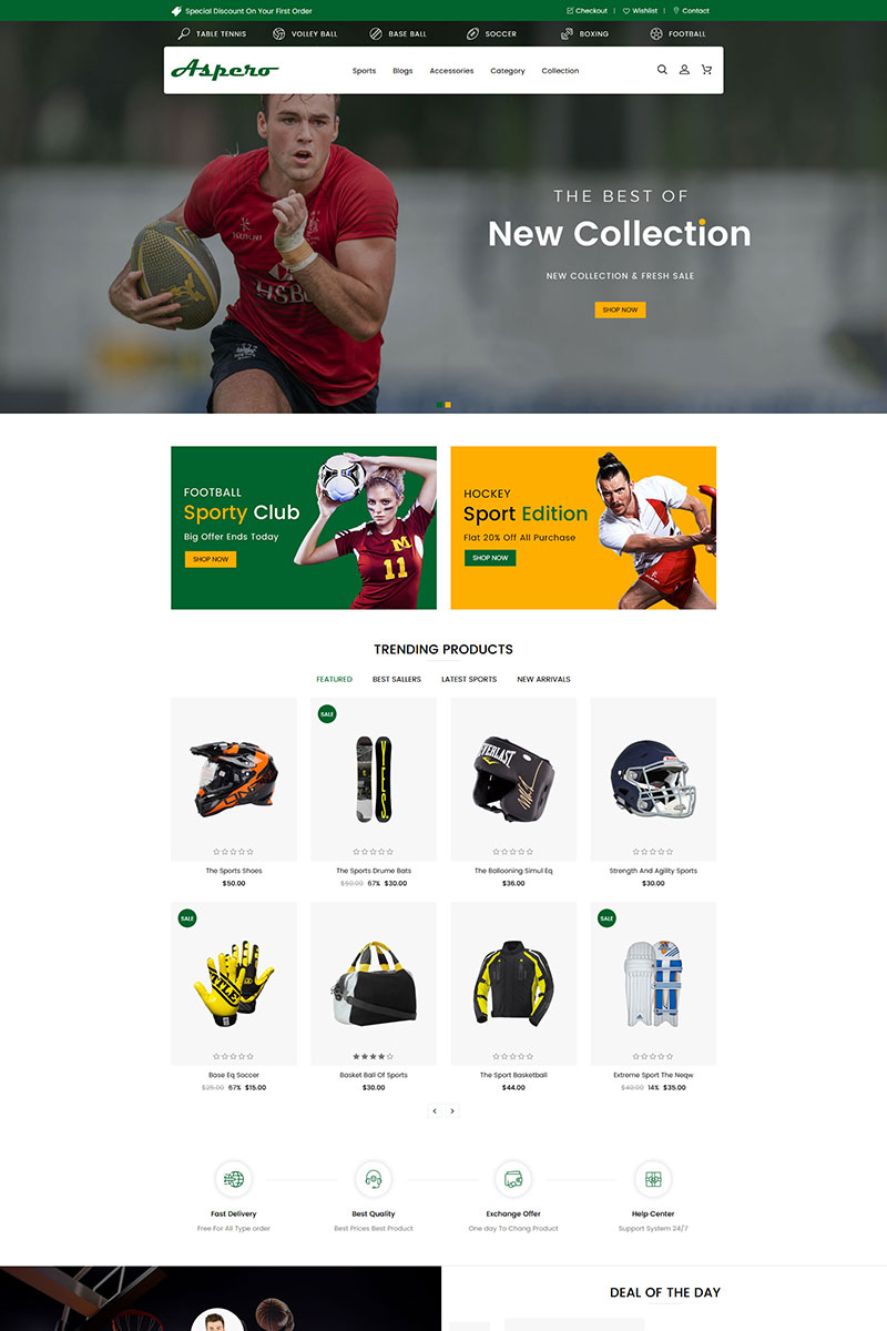 Aspero Sectioned Shopify Theme