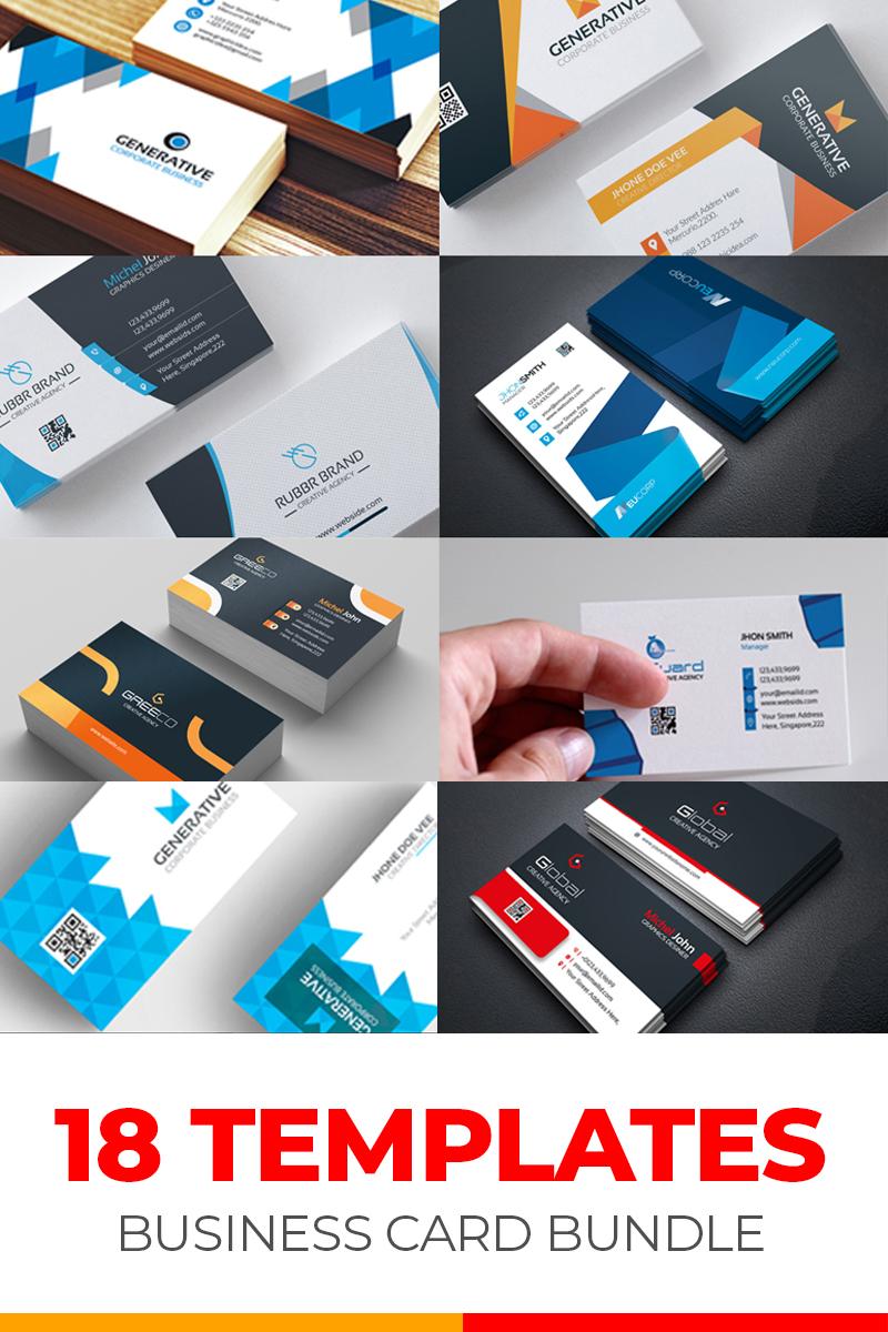 """Business Card 18 Templates Bundle"" 奖金企业设计模板 #79285"