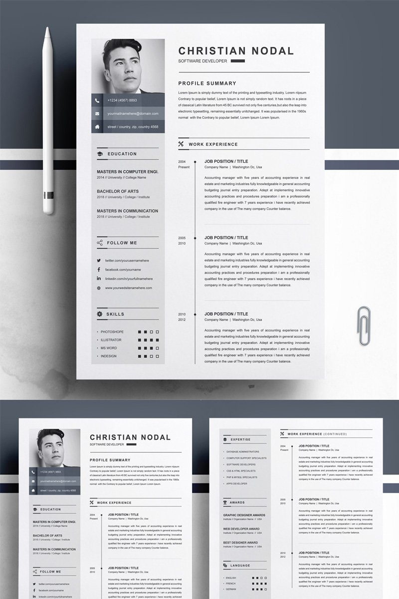 """Christian"" Premium CV Template №79231 - screenshot"