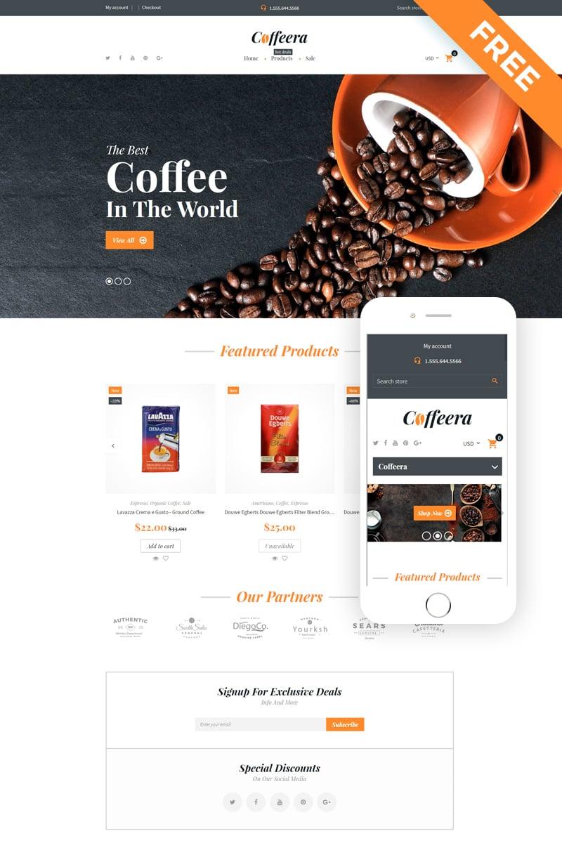 Coffeera - Coffee Shop Ready-to-Use Clean Shopify Theme - screenshot