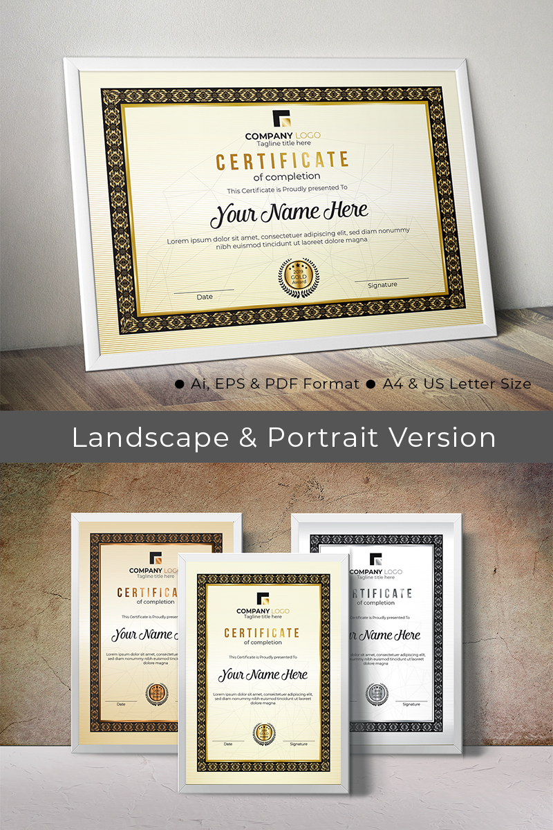 Creative Rank Certificate Template