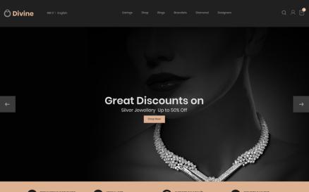 Divine - Jewellery Black PrestaShop Theme