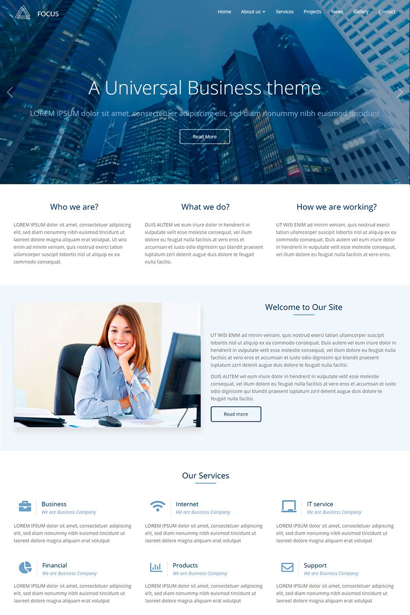 Focus Responsive Multi-Purpose Drupal Template - screenshot