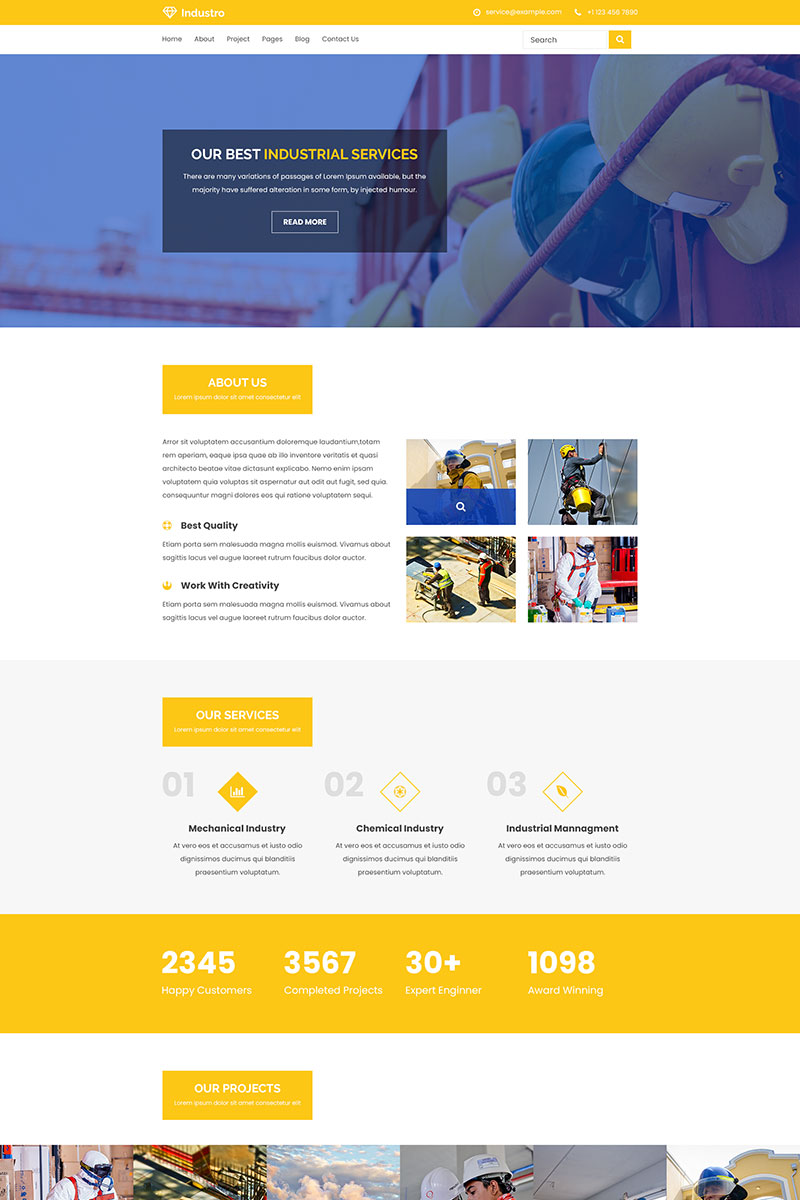 Industro | Industrial, Engineering and Factory PSD Template