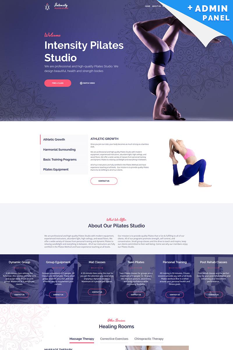 Intensity - Pilates Studio Landing Page Template