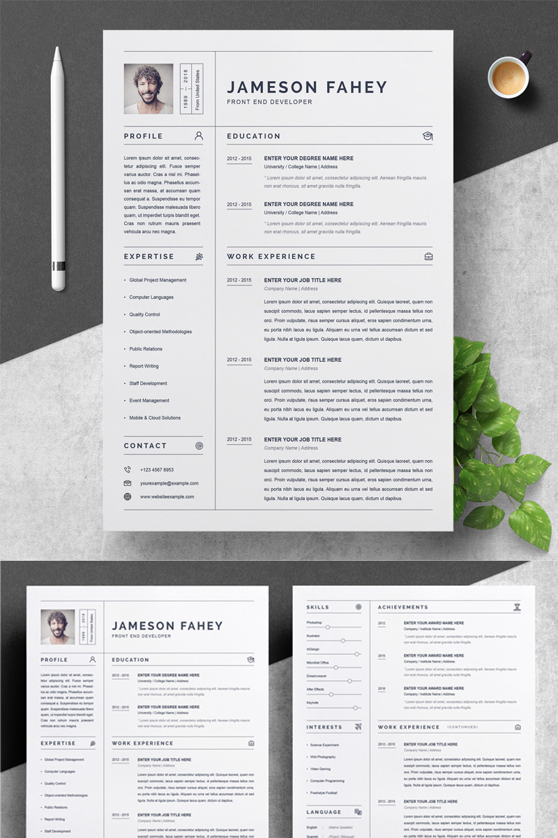 jameson resume template  79280