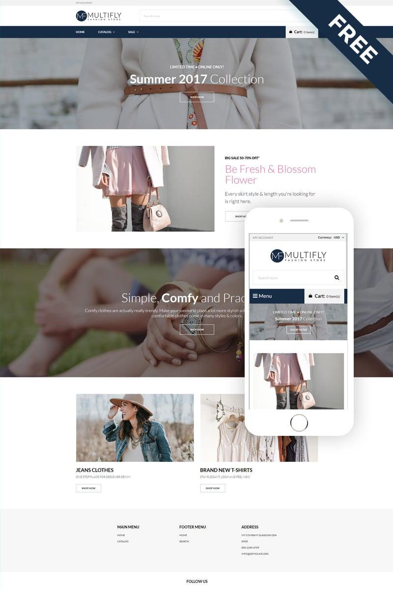 Multifly - Fashion Store Free Elegant Shopify Theme