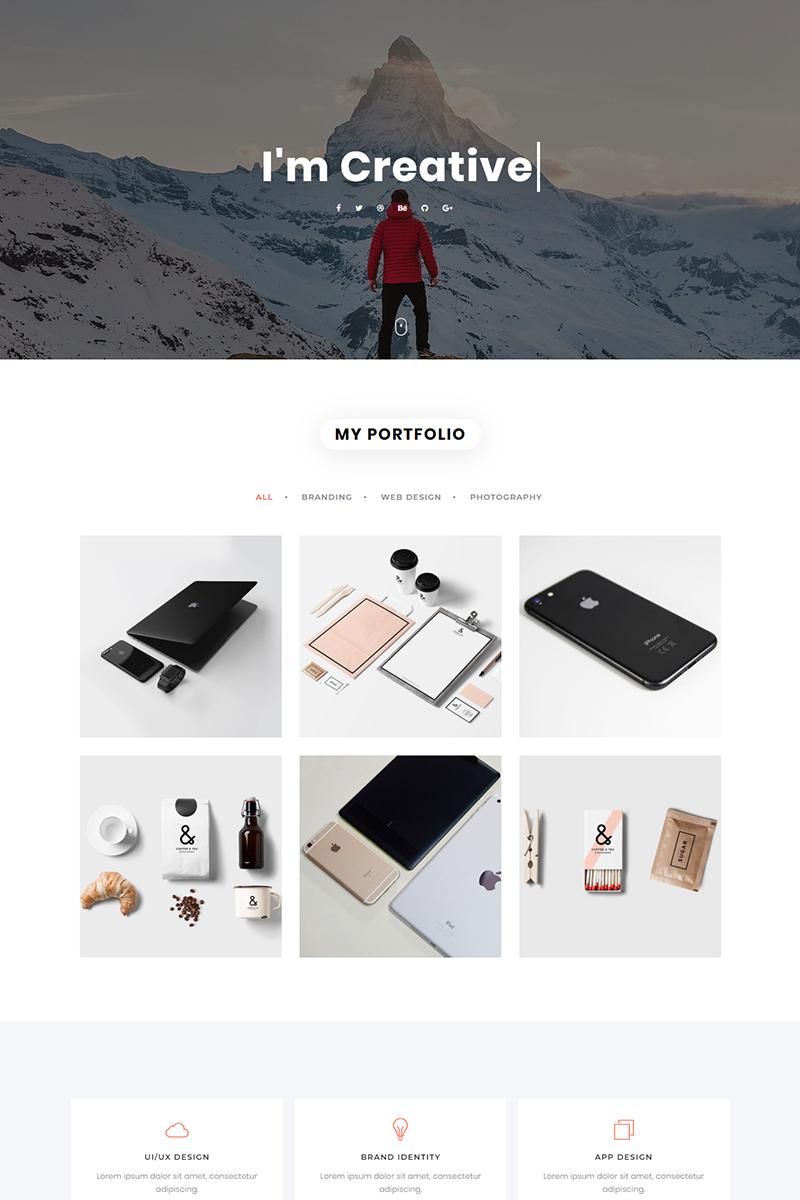 """""""Nivea - Personal Portfolio"""" modèle  de page d'atterrissage adaptatif #79270 - screenshot"""