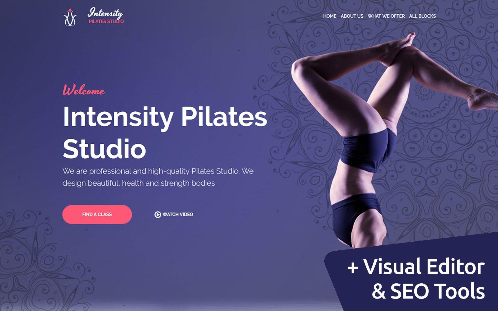 """Plantilla Para Página De Aterrizaje """"Intensity - Pilates Studio"""" #79256"""