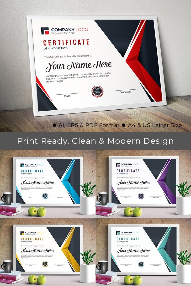 Professional Completion Award Certificate Template - screenshot
