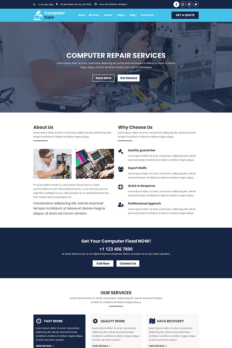 """PSD Vorlage namens """"Computer Care 
