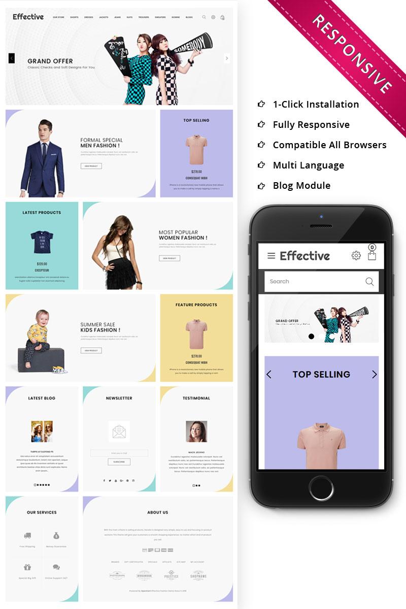 Responsive Effective - The Fashion Store Responsive Opencart #79236 - Ekran resmi