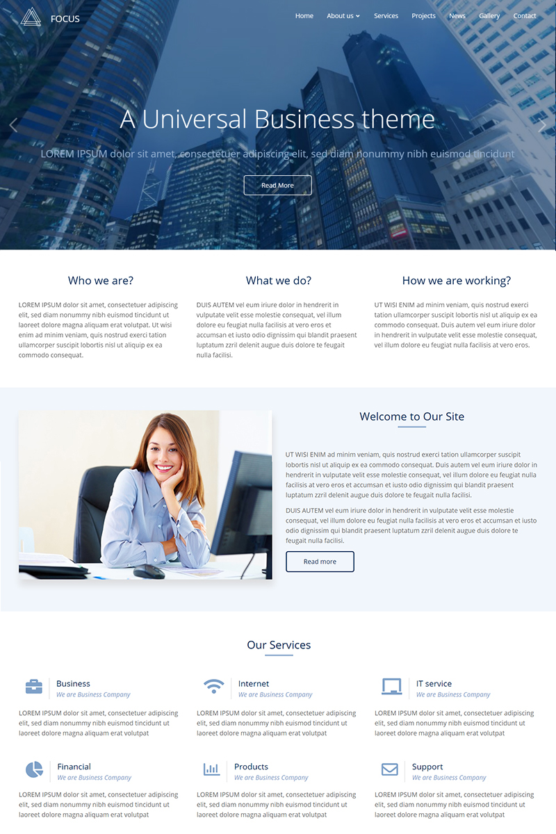 Responsivt Focus Responsive Multi-Purpose Drupal-mall #79228