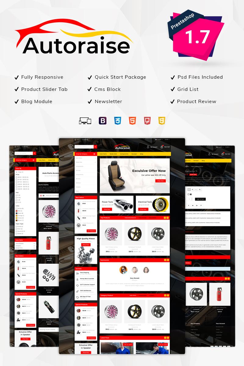 Reszponzív Autoraise - Auto Store PrestaShop sablon 79272