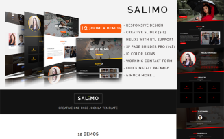 Salimo - Creative One Page Joomla Template