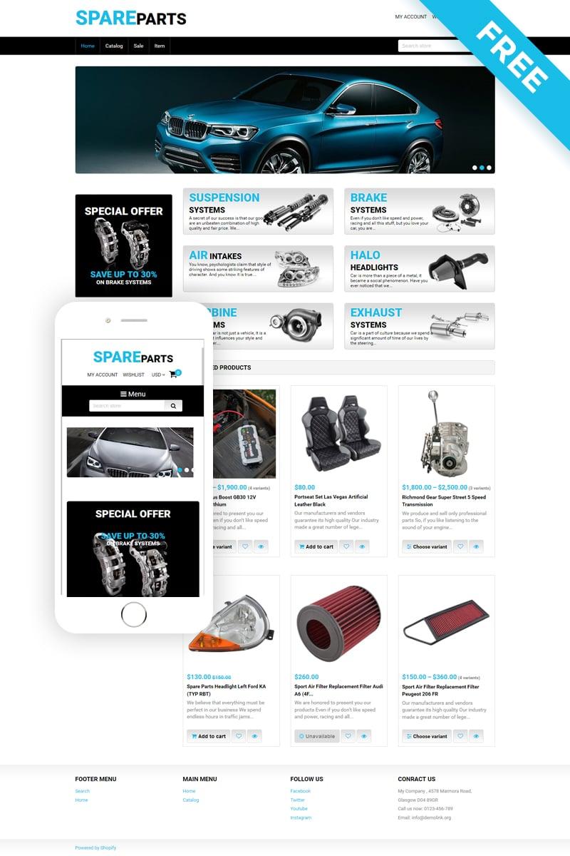 Spare Parts - Car Parts Free Clean Shopify Theme