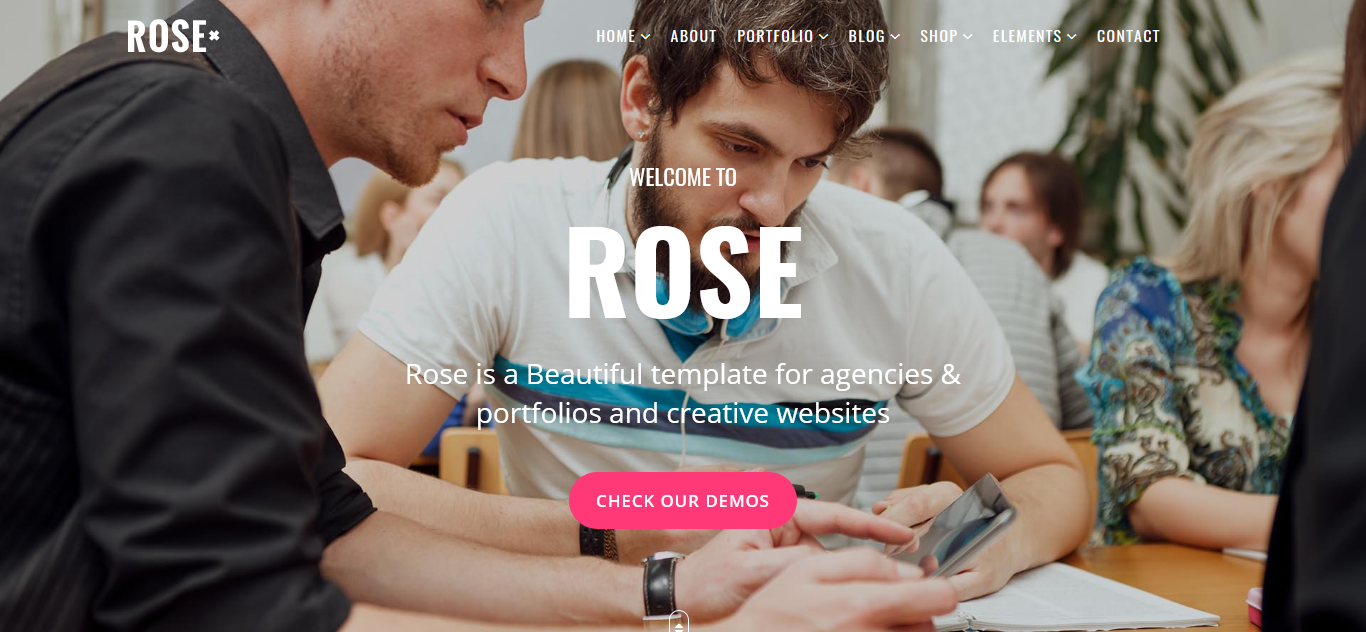 "Template Joomla Responsive #79276 ""Rose - Multipurpose Responsive One Page"" - screenshot"