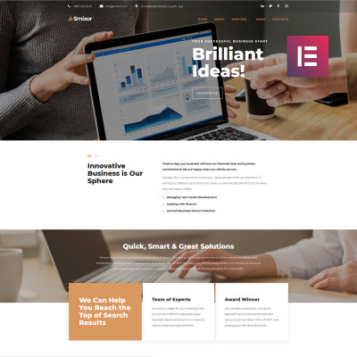 Responsives WordPress Theme für Business Services