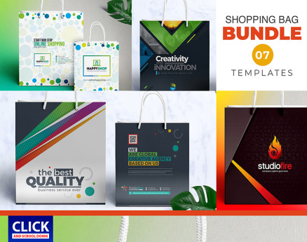 7 Shopping Bag Bundle Corporate Identity