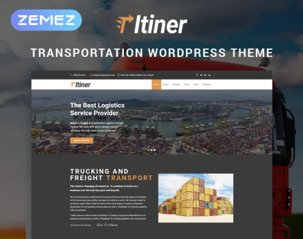 Itiner - Transportation Multipurpose Minimal Elementor WordPress Theme