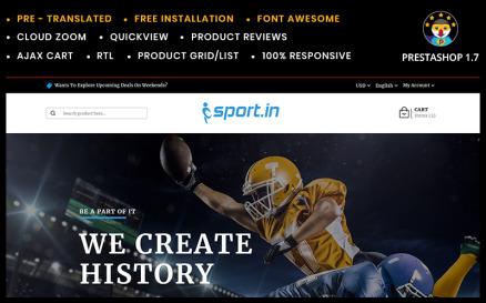 SportIn - Sports Accessories Store PrestaShop Theme