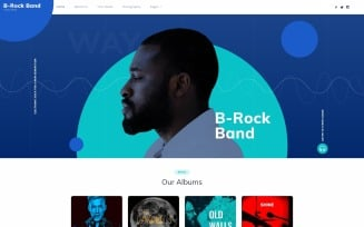 B-Rock Band - Music Band Multipage Creative HTML Website Template