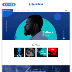 Music Site Templates