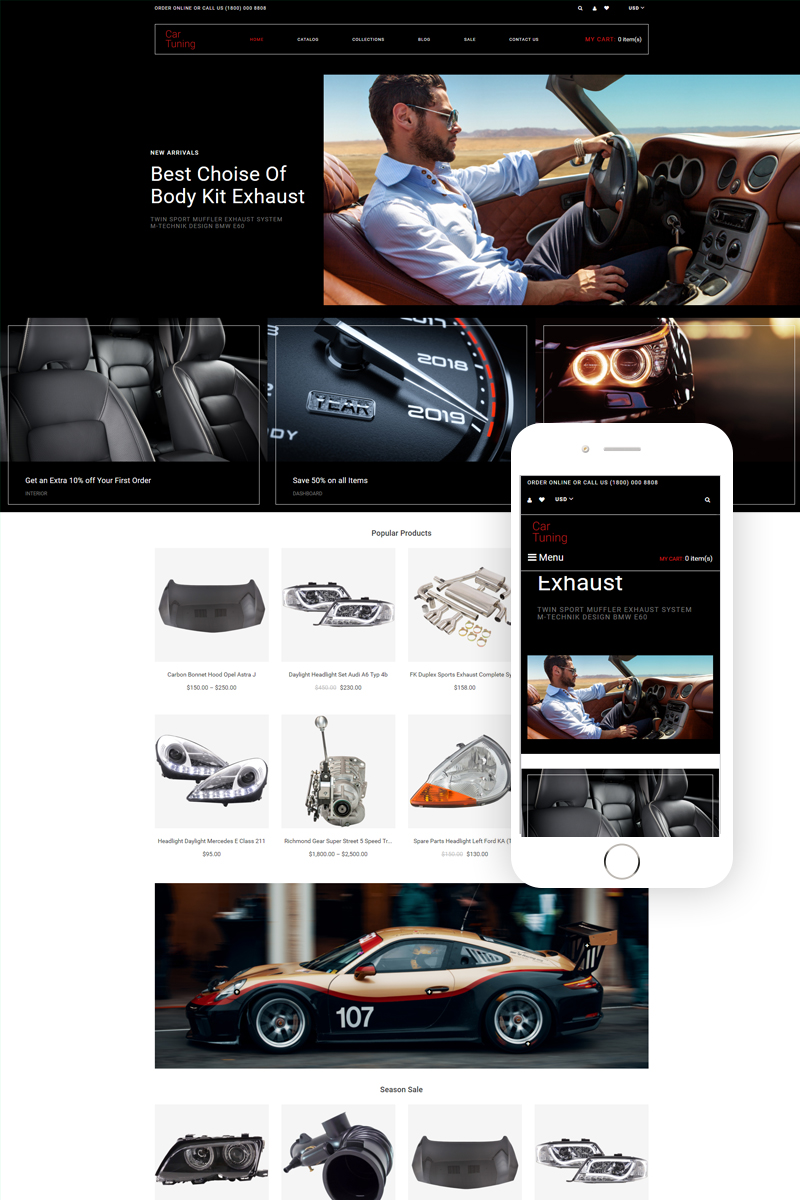 Car Tuning - Car Tuning Multipage Modern Shopify Theme - screenshot