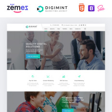 Digimint Business Services Clean Html Parallax Landing Page Template