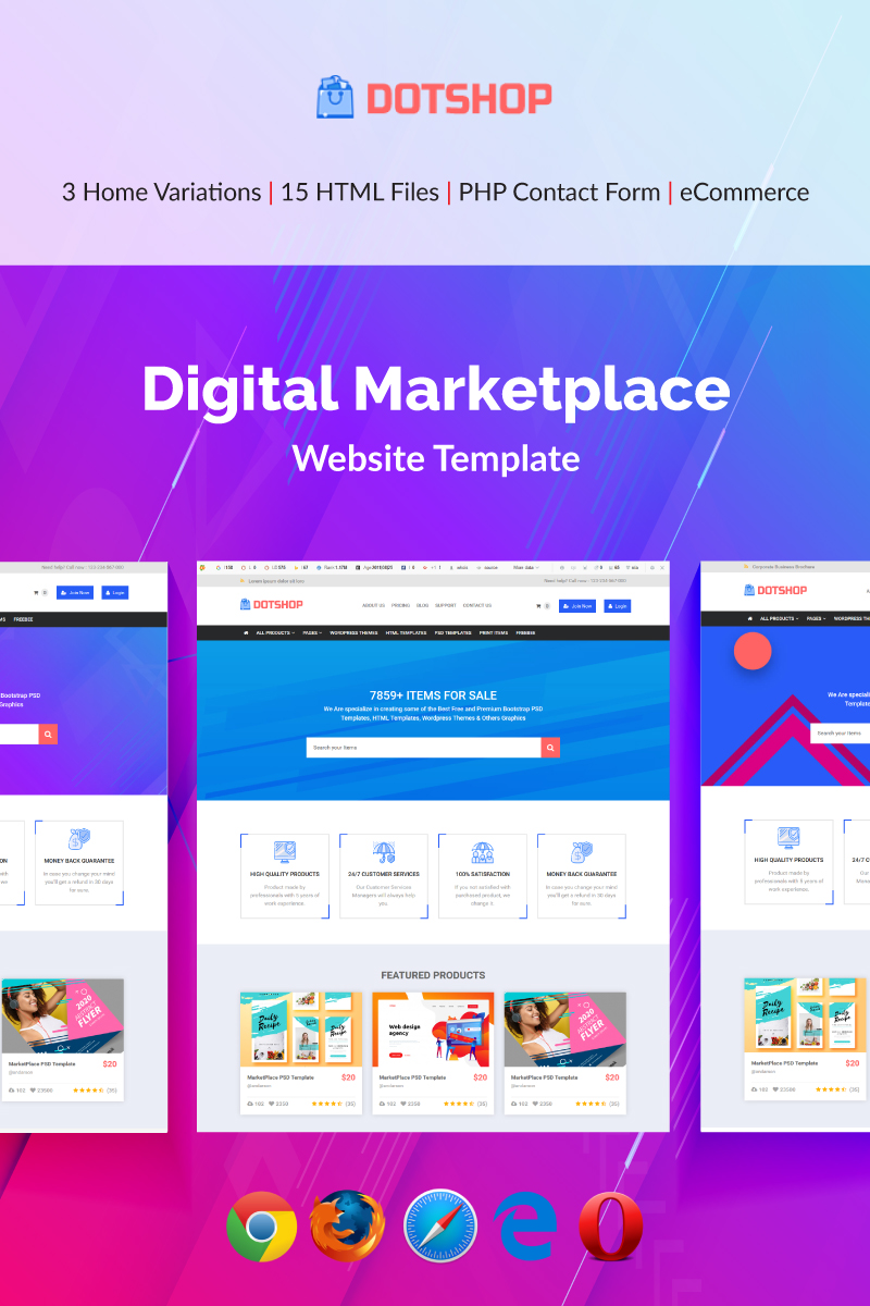 DotShop - Digital Marketplace Template Web №79391