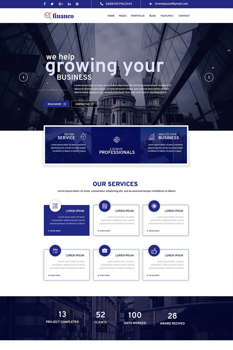 Financo-Business PSD Template