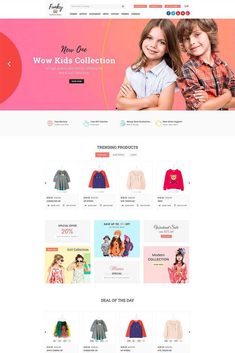 Funky Fashion Responsive OpenCart Template