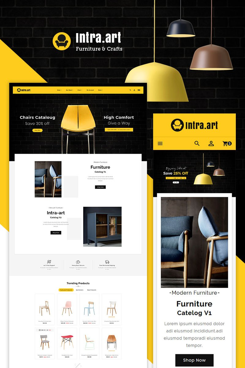 Intra - Furniture Art & Crafts PrestaShop Theme - screenshot