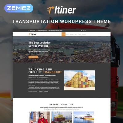 36+ Best Transportation WordPress Themes 2019 | TemplateMonster