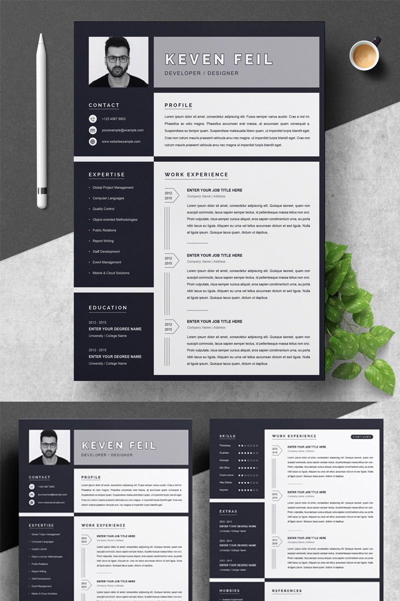keven resume template  79398