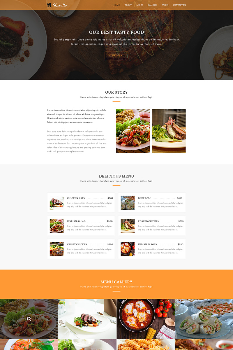 Kuralio | Food & Restaurant PSD Template