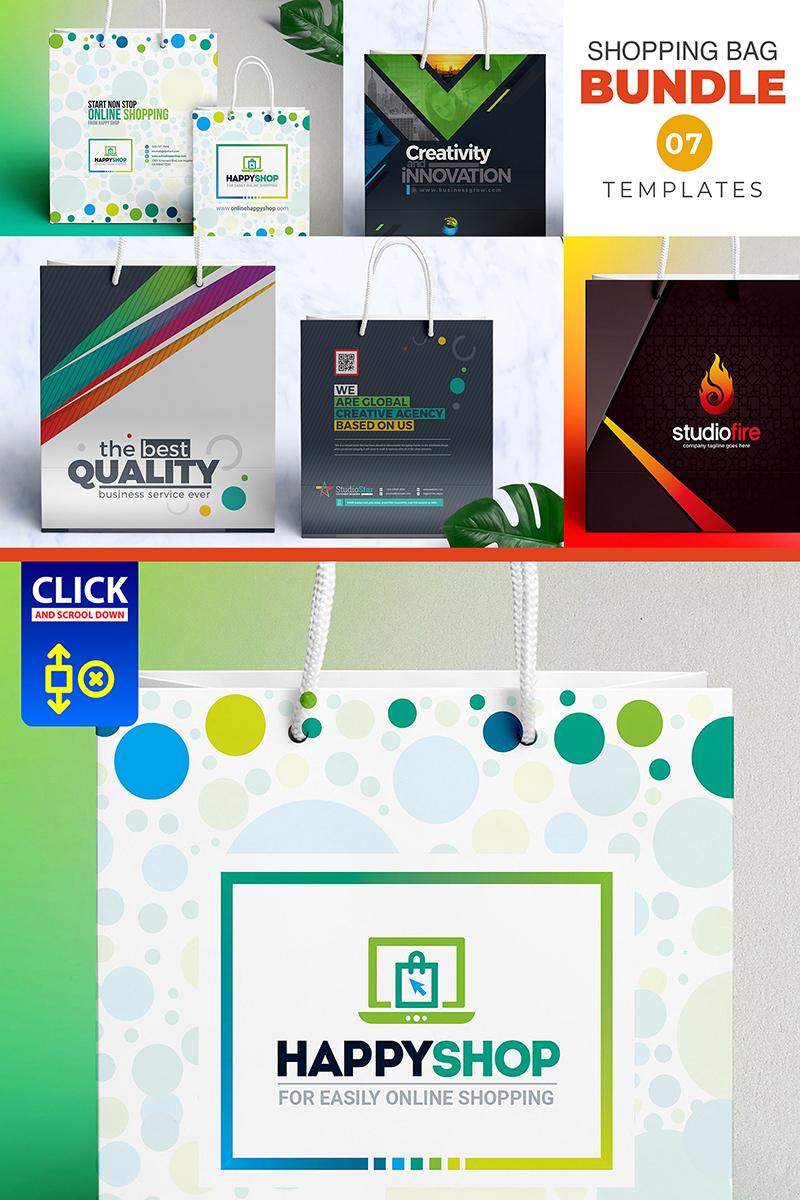 """Plantilla De Identidad Corporativa """"7 Shopping Bag Bundle"""" #79329"""