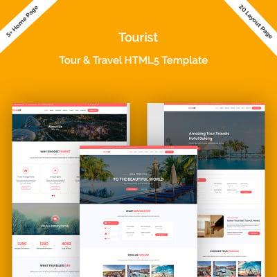 Responsive Plantilla Web #79364 para Sitio de  para Sitio de Guías de viajes
