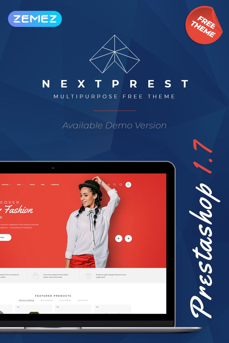 """PrestaShop Theme namens """"Nextprest - Free Clean Bootstrap Ecommerce"""" #79332"""