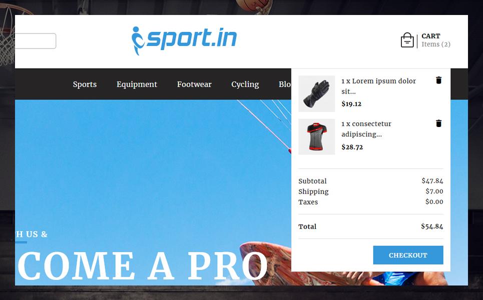 "PrestaShop Theme namens ""SportIn"" #79390"