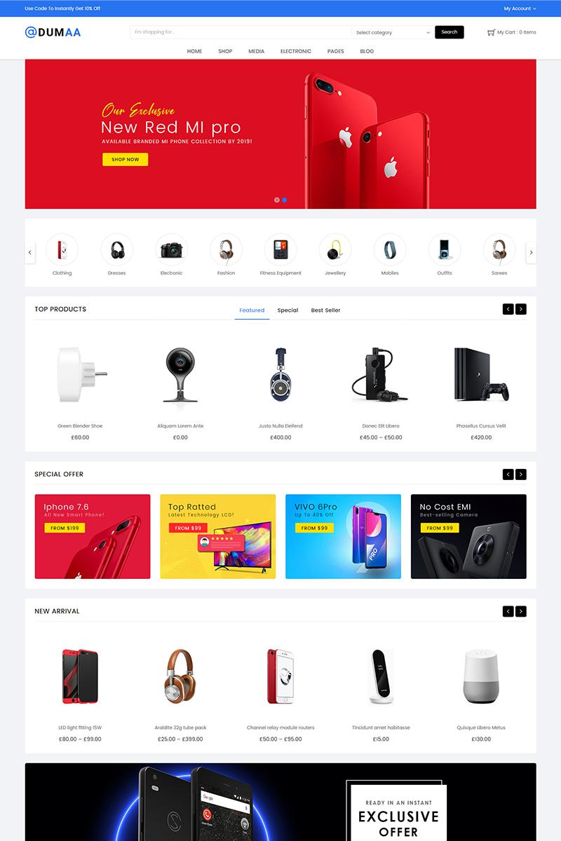 Responsive Dumaa Electronics Store Woocommerce #79348