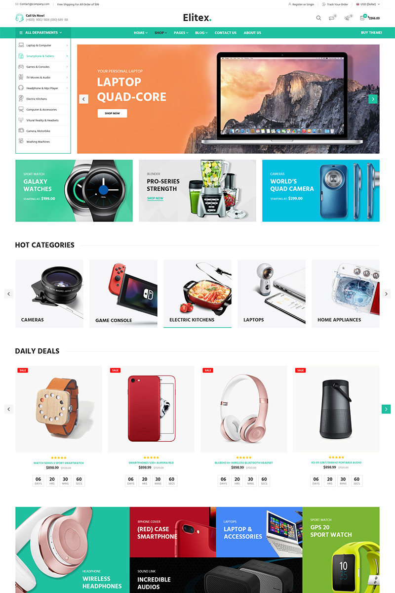 Responsive Elitex - Multi-purposes Woocommerce #79392 - Ekran resmi