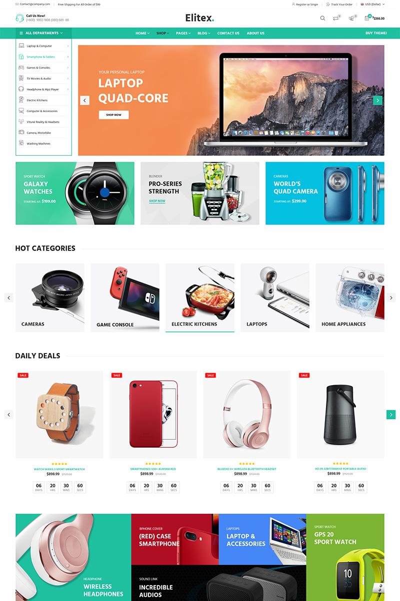 Responsivt Elitex - Multi-purposes WooCommerce-tema #79392 - skärmbild